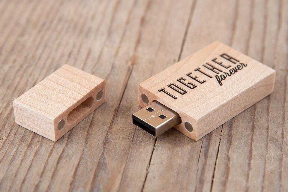 Uqiangbao Walnut Wood Photo Album Box USB Flash Drive 8GB Photography Wedding Storage Device USB2.0 Memory Stick